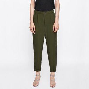 Zara ✨elastic waist silky trouser
